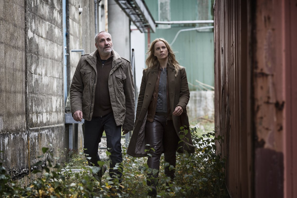 Actors from the Danish-Swedish co-production the Bridge