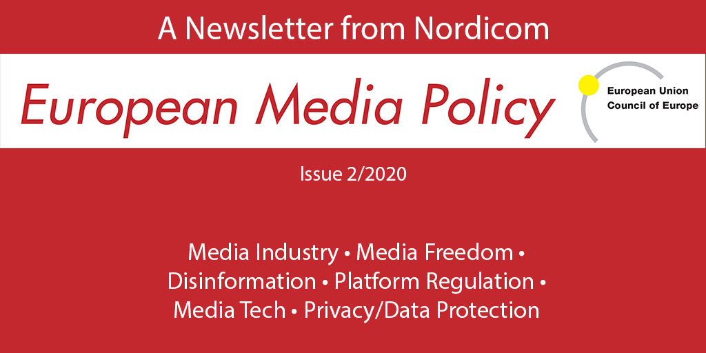 Logo and content sections in European Media Policy 2/2020
