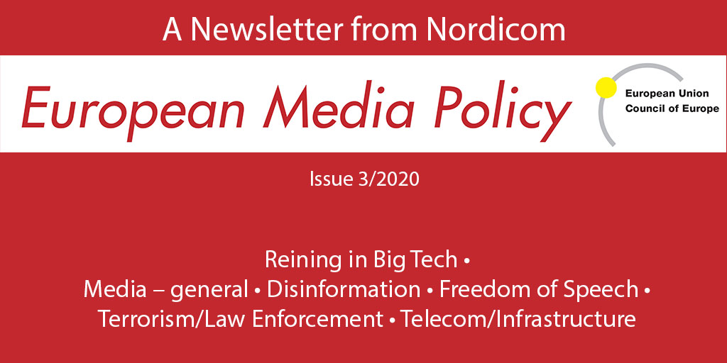 Logo and content sections in European Media Policy 3/2020