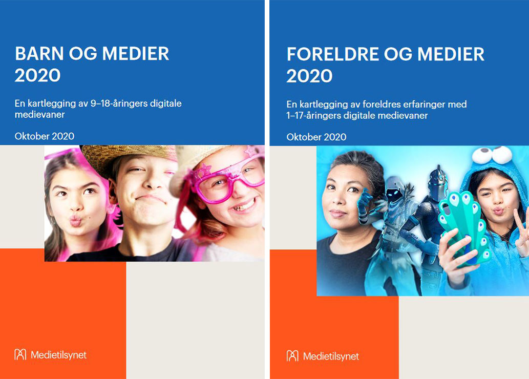 Covers of reports from Norwegian Media Authority
