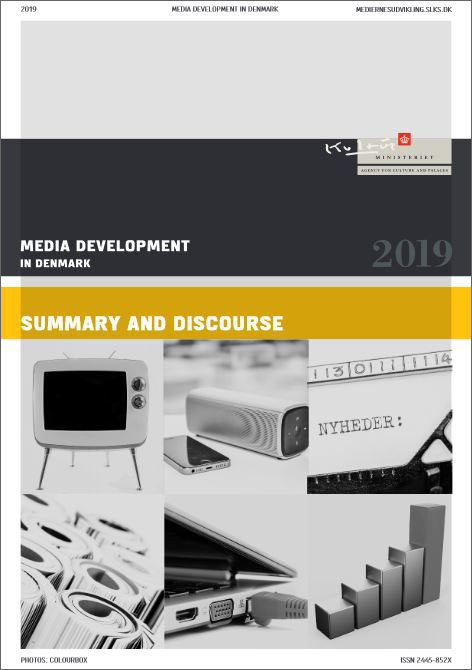The Media Development in Denmark 2019 - cover of the report