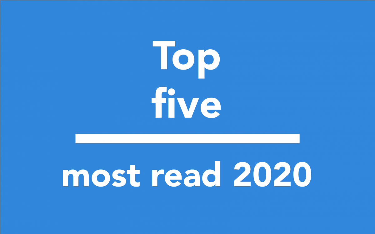Top five most read 2020