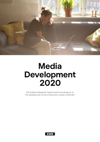 Cover to the report Media Development 2020 from DR, Denmark