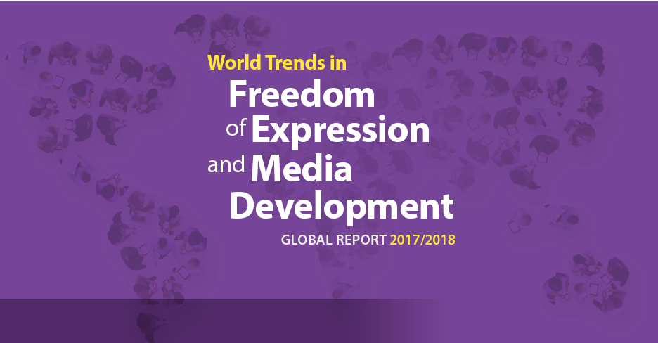 World Trends in Freedom of Expression and Media Development front page