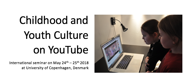 Presentationsbild Childhood and Youth Culture on YouTube seminariet