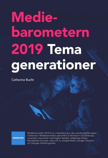 Omslag Mediebarometern 2019: Tema generationer