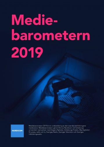 Omslag Mediebarometern 2019
